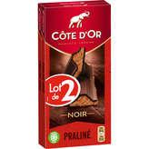 Côte d'Or Tablette De Chocolat - Noir - Praliné - 2x200g