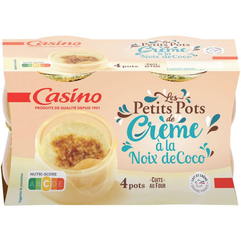 Cora petits pots de creme noix de coco 4 X 100g