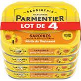 Parmentier Sardines Entières Huile De Tournesol - 4x135g