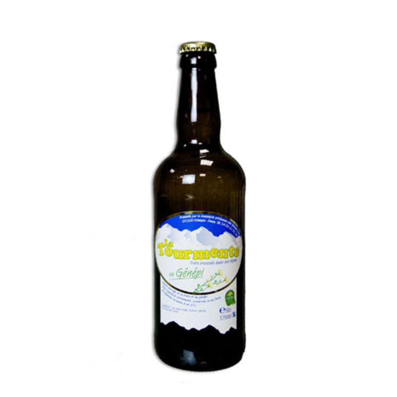 La Tourmente - Bière blonde au Gnénépi - Alcool 5,9 % vol.