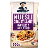 Quaker Golden Muesli - Céréales - Myrtille Et Goji