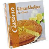 CASINO Gâteau moelleux - Au citron 350g