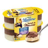 Nestlé NESTLE Secret de Mousse au chocolat au lait et blanc - 4 pot... - 4x59g