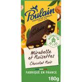 Poulain Tablette De Chocolat - Noir - Mirabelles Et Noisette... - 180g