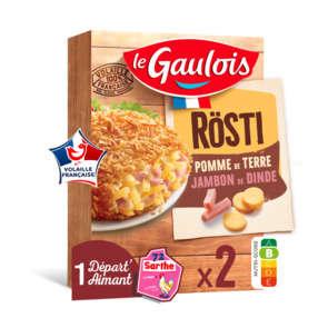 Rösti - Pommes de terre rapées et jambon de dinde
