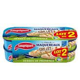 Saupiquet Filets De Maquereaux - Grillés - Herbes De Provenc... - 2x120g