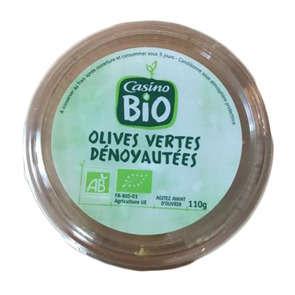 Olives vertes dénoyautées - Biologique