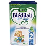 Blédina Bledina  - 2ème Âge - Lait De Suite 2 - Poudre - Dè... - 900g