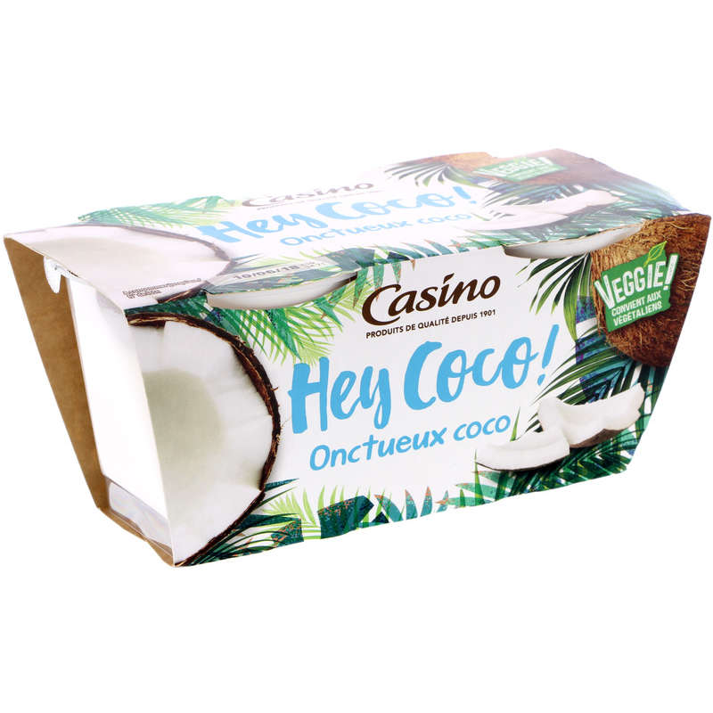CASINO Hey coco! - Onctueux coco - Nature