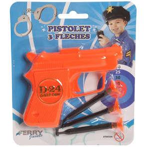 Pistolet 3 flèches 10cm