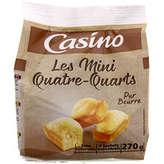 CASINO Les mini quatre-quarts - Pur beurre 270g