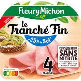 Fleury Michon Jambon Fin - Taux De Sel Réduit - 4 Tranches - 1
