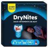 Huggies Drynites Pyjamas Pants - Protection De Nuit Garçon 4-7 Ans -... - X16