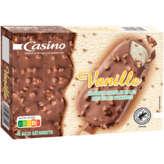 Bâtonnets - Crème glacée vanille, enrobée de chocolat...