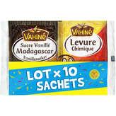 Vahiné VAHINE Mix sachet sucre vanillé & levure chimique - x10
