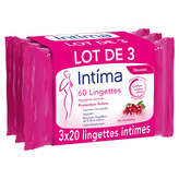 Intima INTIMA 20 lingettes hygiène intime - Régulation active - x3