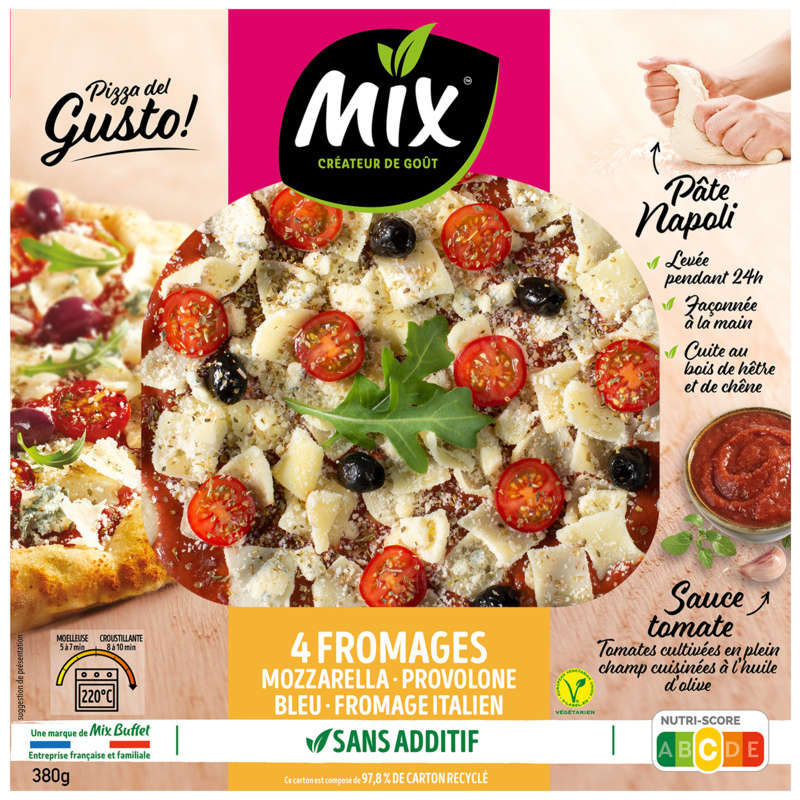 MIX Pizza del Gusto - Pizza fraiche aux 4 fromages
