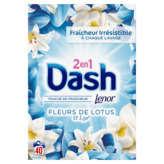 Dash Lessive Poudre - 2en1 - Avec Adoucissant - Fleur De Lot... - 3,2kg