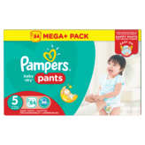 Couches Pampers Baby Dry T5 Méga x84