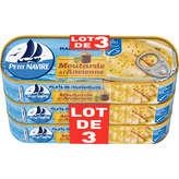 Petit Navire Filets De Maquereaux Moutarde - 3x169g