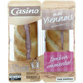 CASINO Mini viennois - Sandwich - Jambon emmental