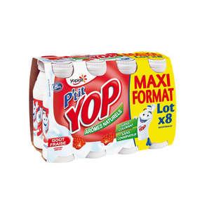PRODUIT INACTIF - P'tit Yop fraise 8x180g