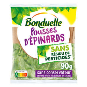 Pousses d'épinards - Sans résidu de pesticides