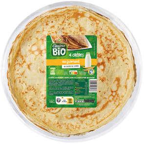 CASINO BIO Crêpes de froment - 4 crêpes - Biologiq