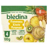 Blédina BLEDINA Compote - Pomme, Kiwis, Ananas - De 8 à 36 mois - 4x100g