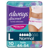 Always Discreet - Culotte Hygiène - Plus - Taille L - X10