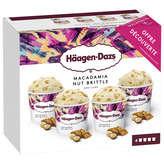 Häagen-Dazs Crème Glacée - Macadamia Nut Brittle - Mini Cups... - X4
