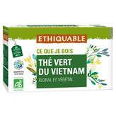 Ethiquable ETHIQUABLE Thé vert de Ceylan - sachets - Biologique - x20