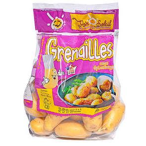Pommes de terre de consommation à chair ferme - Sachet  micro ondable - Cat. 1 - Cal. 35/45