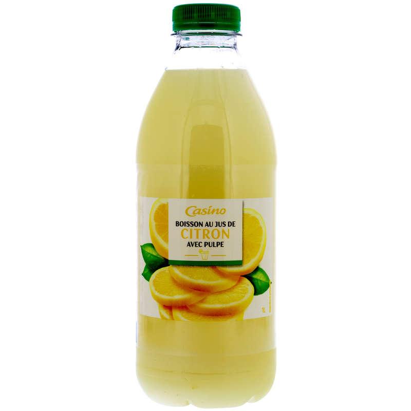 CASINO Boisson au jus de citron - Avec pulpe