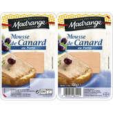 Madrange Mousse De Canard Au Porto - Pâté En Tranche - X2