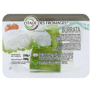 Burrata avec feuille - 27% mg