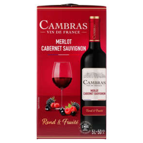 Vin de table rouge - Cambras - Alcool 12% vol. - Bib