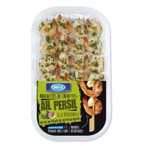 Brochettes de crevettes ail et persil - x4