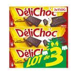 Delacre DELACRE DéliChoc Chocolat Noir - 3x150g