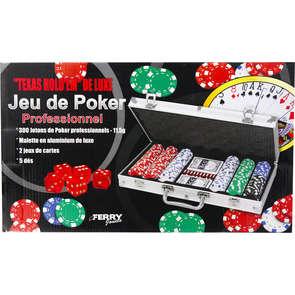 Malette de poker 300 jetons