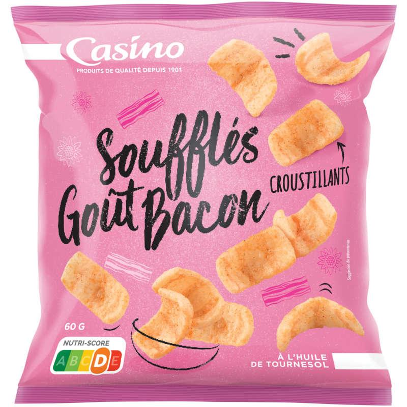 CASINO Soufflés - Biscuits apéritifs - Goût bacon