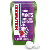 Hollywood HOLLYWOOD Mini Mints - Bonbons Sans Sucres - Fruits Rouges - 12,5g