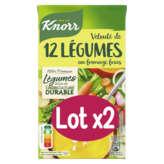 Knorr Velouté De 12 Légumes Au Fromage Frais - 2x1l