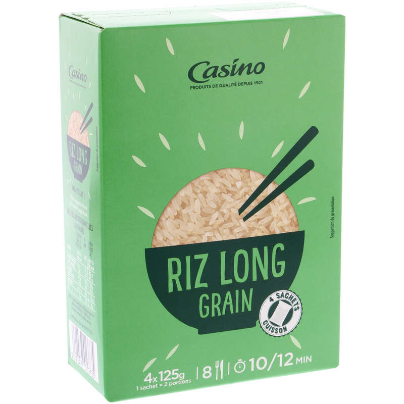 CASINO Riz - Long grain - Sachets cuisson