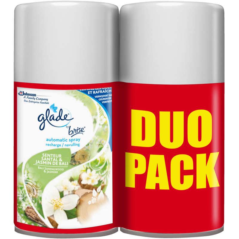 Glade Recharge automatic spray santal et jasmin de Bali la recharge de 269 ml
