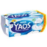 le yaourt à la grecque nature yaos nestlé 4 x 150g