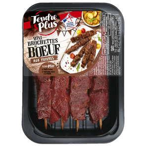 Mini brochettes de bœuf aux poivres - x4