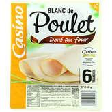 CASINO Blanc de poulet - Doré au four - 6 tranches