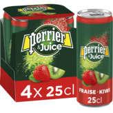 Perrier & Juice - Eau Gazeuze Aux Fruits - Fraise & Kiwi - 4x25cl