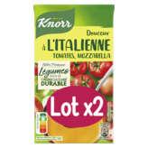 Knorr Doucuer À L'italienne - Tomattes, Mozzarella - Riches ... - 2x1l